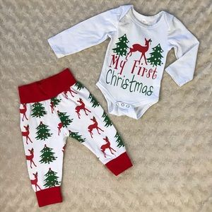 Trendy My First Christmas Outfit Set 70 Red Green